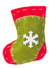 Christmas sock fabric with snowflake decoration