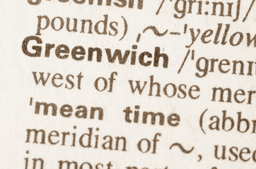 Dictionary definition of word Greenwich