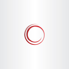 round spiral red circle vector frame