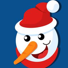 Happy Snowman Face