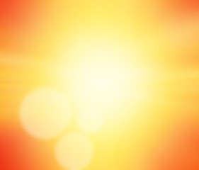 Abstract orange background horizon