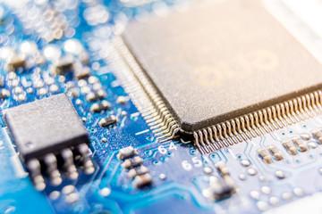 Blue electronic circuit