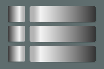 Six stainless steel horizontal  labels vecto