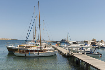 May 30, 2014: Photo ofyacht marina. Paphos. Cyprus.