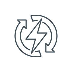 Renewable energy icon