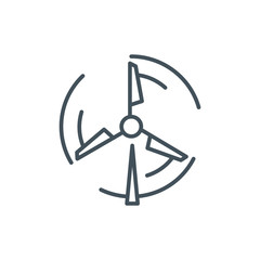 Wind mill, energy icon