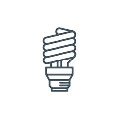 Energy efficient lamp icon
