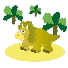 Brown dinosaur-Triceratops.