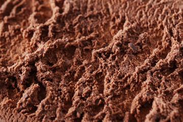 Sweet chocolate ice cream background, close up