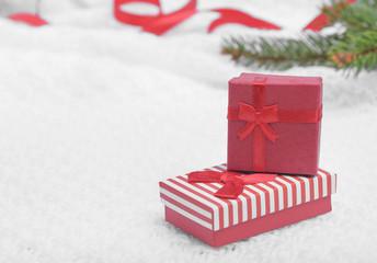 Red Christmas gift.