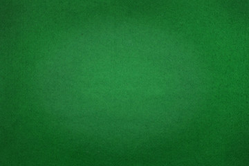 Photo poker table felt background in green color