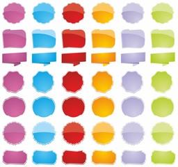 Obraz Different colorful price tags - fototapety do salonu