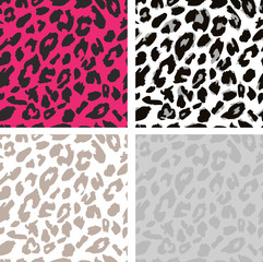 Seamless leopard print pattern. Leopard fur.