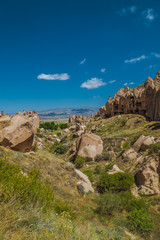 Landscape in Cappadocia desert in Turkey