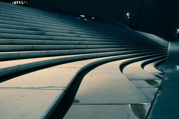 Treppen am Hamburger Hafen