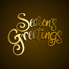 Golden Seasons Greetings Text