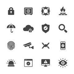 Protection and Security Icons