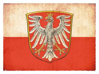 Grunge-Flagge Frankfurt (Hessen, Deutschland)