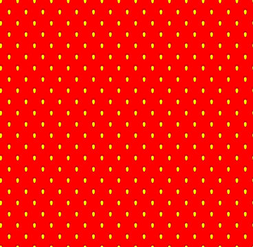 Strawberry seamless pattern with seeds. Fruit flavor background