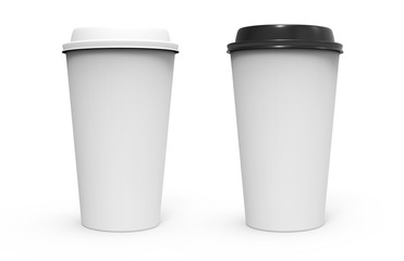 Two paper coffee cup