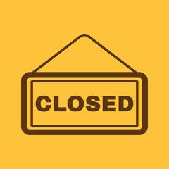 The closed icon. Locked symbol. Flat