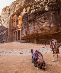 Ancient temple in Petra, Jordan