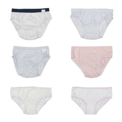 set of baby pants for boys and girls isolated