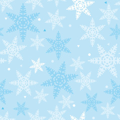 Christmas Snowflakes festive Pattern for Party and congratulation