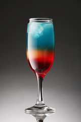 Colorful cocktail on a gradient