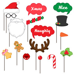 photo booth props for merry Christmas , merry Christmas party set