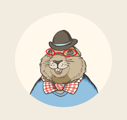 Marmot hipster