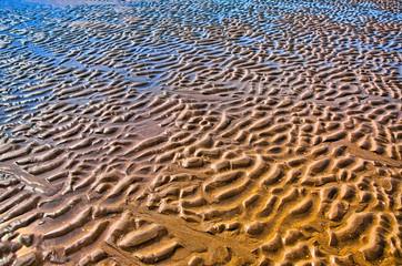 Furrows in the beach, North Sea, Zandvoort near Amsterdam, Holla