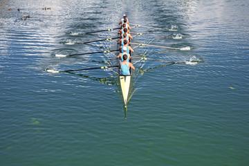 Eight Rowers training rowing