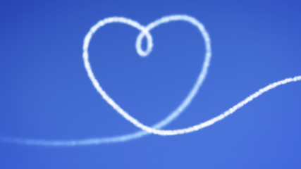 heart blue sky