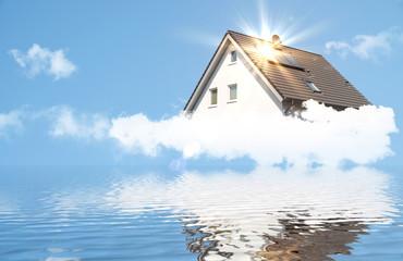 Dream house with sun rays
