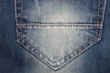 Denim Closeup : texture background of pockets jeans.
