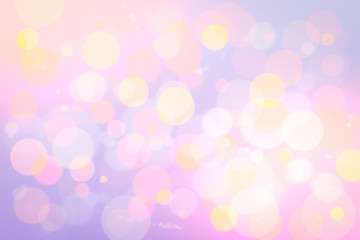 bokeh in soft color style