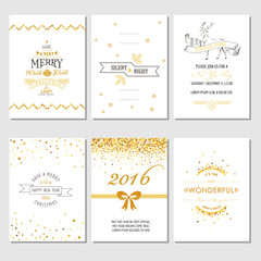 Christmas and New Year Cards - Art Deco Style