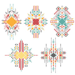 Abstract geometric tribal design elements