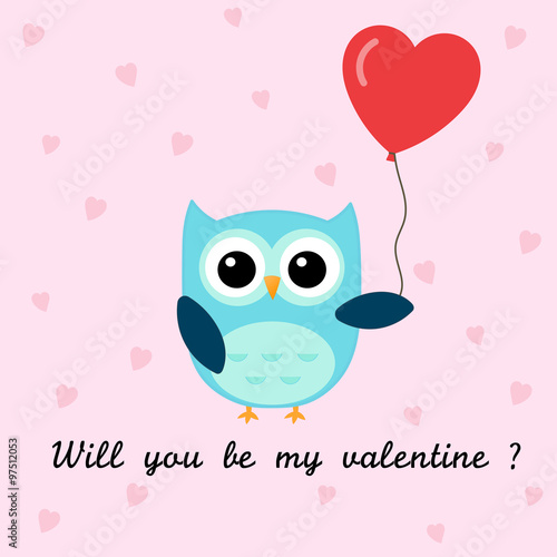 Will You Be My Valentine Owl