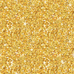 Golden Glitter Background - seamless pattern