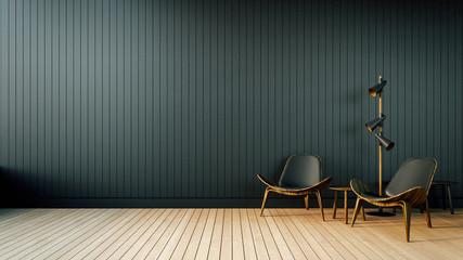 Loft & Simple Living room / 3D Render Image