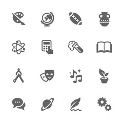 Simple School Subject Icons.