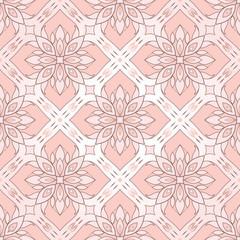 Filigree seamless texture on pink.