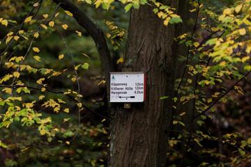 Wanderweg Beschilderung im Harz