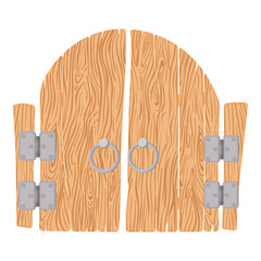 Wooden cartoon gate