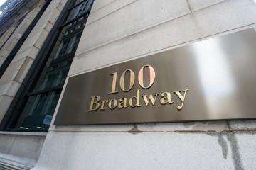 Broadway street sign in New York