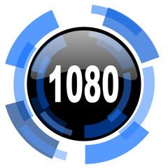 1080 black blue glossy web icon