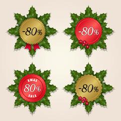 Christmas Sale 80% - Mistletoe Labels