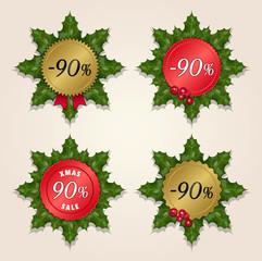 Christmas Sale 90% - Mistletoe Labels